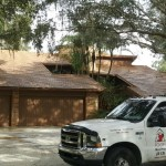 Cleaning A Stone Coated Steel Roof In Tampa Florida